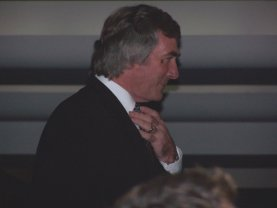 Spurs Legend Pat Jennings makes his entrance at his Induction into the Spurs Hall of Fame on October 21st 2004
